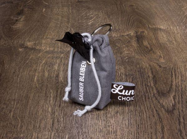 "Luna's Choice Kotbeutelhalter ""Sauber bleiben"" by Inke."