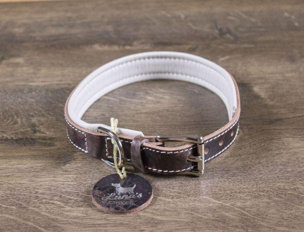 """Luna's Choice Halsband """"Classic Style"""" gepolstert Breite 2,5cm / Länge 57cm"""