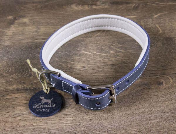 """Luna's Choice Halsband """"Classic Style"""" gepolstert Breite 2,0cm / Länge 44cm"""