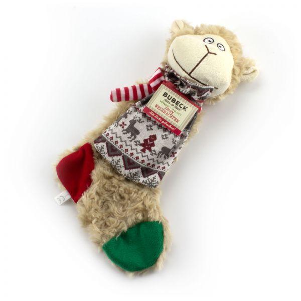 Trixie Plüsch Schaf mit Bubeck Keks im Weihnachtsbeutel
