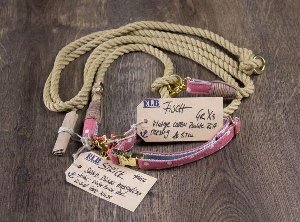 ELBband Puppy Pünktchen Set (Hundeleine + Halsband)