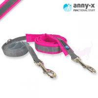 anny•x gepolsterte Führleine leuchtpink/grau *SONDERFARBE* wenn weg, dann weg ;-)