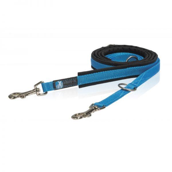 anny•x gepolsterte Führleine schwarz/blau