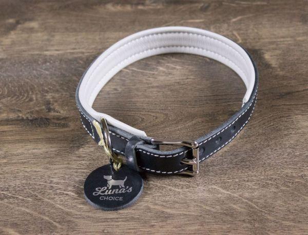 """Luna's Choice Halsband """"Classic Style"""" gepolstert Breite 2,5cm / Länge 61cm"""