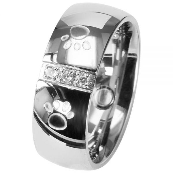 Magnet Ring mit Zirkonia