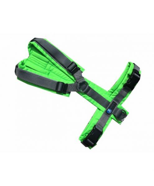 anny•x Brustgeschirr Protectleuchtgrün/grau