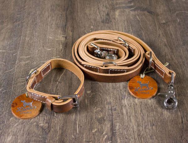 "Luna's Choice Halsband ""Classic Style"" cognac / Breite 2,0cm / Länge 36cm"