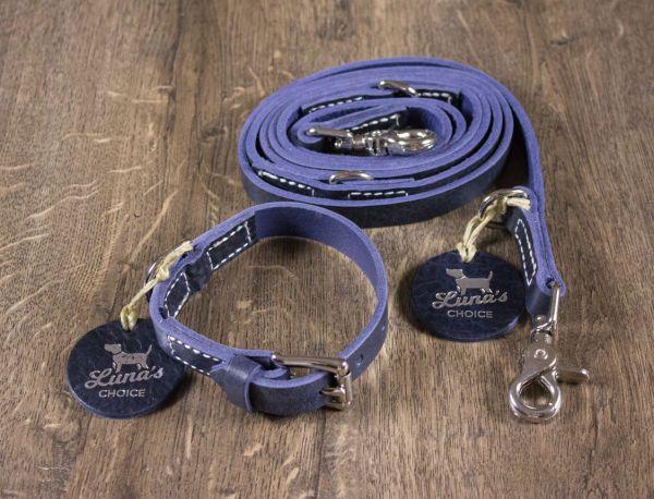 """Luna's Choice Halsband """"Classic Style"""" ungepolstert blue / Breite 2,0cm / Länge 36cm"""