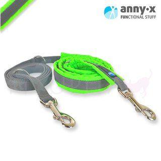 anny•x gepolsterte Führleine leuchtgrün/grau *SONDERFARBE* wenn weg, dann weg ;-)